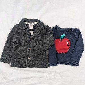 Joe Fresh 2pcs Sweater Coat and Apple Sweater Sz 18-24mths